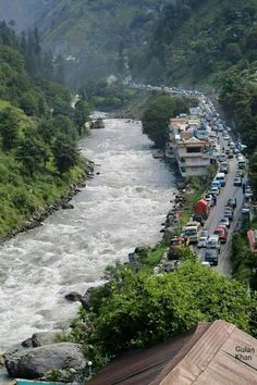 Awesome view of terrific jam in Naran road to Mansehra Swat valley Khyber Pakhtunkhawa Pakistan