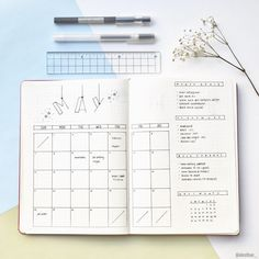 "282 Likes, 16 Comments - E M I L Y & K A T Y (@alosthue_) on Instagram: ""Monthly spread for May! Inspired by @bulletjournalsophisticate and @rozmakesplans . . . . . . . .…"""