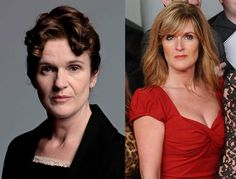 Downton Abbey Stars On-Screen vs. Off Screen (or: the power of flattering hair and makeup)
