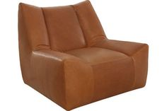 Lee Industries: L1147-01SW Leather Swivel Chair-  Boys Game Room Chairs