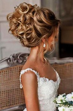 If you are not sure which hairstyle to choose see our collection of swept-back wedding hairstyles and you will find gorgeous and fancy looks! Use some pins and wand to pull back your hair into an elegantly messy updo. Release just a few wavy strands in the front and get such a lovely style!