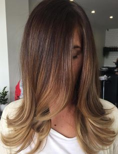 Brown+To+Caramel+Ombre