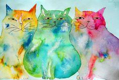 Haleiwa Cats by Linda Bachrach