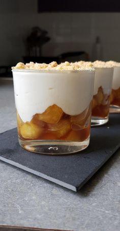 Verrines aux pommes caramélisées - My tasty cuisine