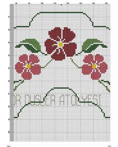 """Instagram'da Hs Design Store Şablon: """"Basit ve gösterişli seccade modeli arayanlara 😍 Bir takipçim işlemeye başlamış benim de çok hoşuma giden bir model oldu. Bütün halini…"""" Hand Embroidery Design Patterns, Simple Cross Stitch, Cross Stitch Embroidery, Pattern Design, Cross Stitch Borders, Cross Stitch Fruit, Monogram Alphabet, Crochet Motif, Embroidered Towels"""