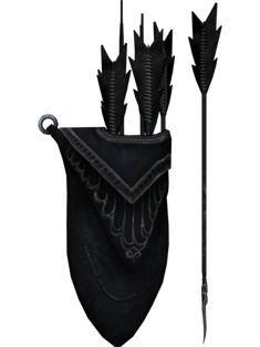 Ebony Arrows - Very high damage for an arrow! Skyrim Arrows, Skyrim Swords, The Elder Scrolls, Knee Tattoo, I Tattoo, Skyrim Nightingale, Archer Tattoo, Skyrim Cosplay, Cosplay League Of Legends