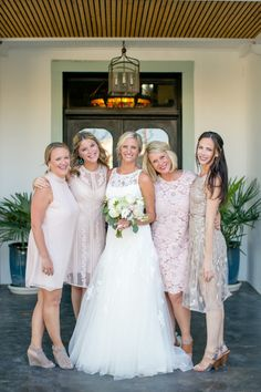The Bush sisters are blushing bridesmaids in this Texas wedding: http://www.stylemepretty.com/texas-weddings/2014/11/12/casually-elegant-texas-wedding/ | Photography: The Nichols - http://www.nicholsphotographers.com/