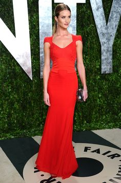 Rosie Huntington Whiteley in Antonio Berardi, Vanity Fair After Party, 2012