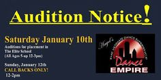 #Audition Notice for the #Elite School and Performance Companies.