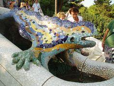Gaudi's Dragon, Guell Park, #Barcelona #Spain