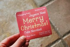 Printable notecard for Operation Christmas Child