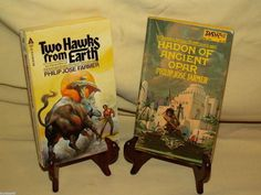 PHILIP JOSE FARMER TWO HAWKS EARTH HADON ANCIENT OPAR DAW ACE 1970S ILL SET 2