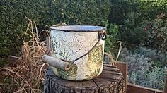 Rustical olive bucket
