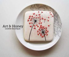 Art & Honey Cookie Boutique:  Valentine's day.   Dandelion with tiny little hearts.  Make a wish!   ♡♡♡♡♡