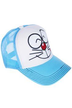 Doraemon Print Blue Cap