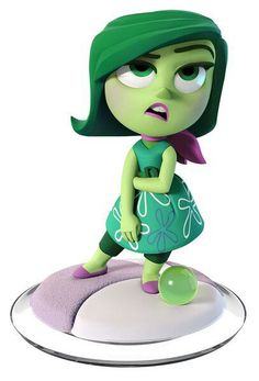 Disney Infinity 3.0 Figure: Disgust (Wave 1, Inside Out Play Set, Sold Seperately)