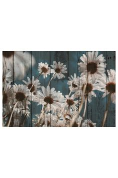 Woodcut Daisies Wall Art. Omg I freaking love this