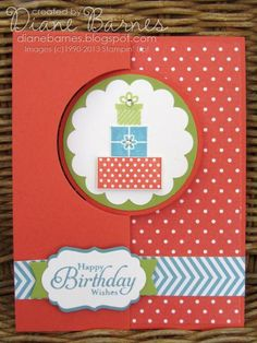 Stampin Up Wishing You flip thinlits birthday card by Di Barnes Flip Cards, Fancy Fold Cards, Folded Cards, Swing Card, Birthday Card Design, Happy Birthday Cards, Birthday Wishes, Pretty Cards, Paper Cards