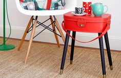 Create a suitcase table - Give neglected or discarded luggage a new lease of life and add a quirky flair to any room by turning your old cases into unique side tables with bonus storage.