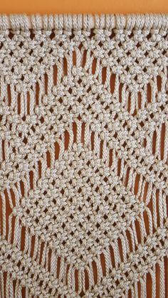 Handmade macrame wall hanging is unique panel for home decor. Sizes: width: 15.5 height 50 SHIPPING Ships in 48 HOURS after your payment and let you know the tracking number. All items will be shipped by Registered mail. You can follow your items on web with tracking number provided. PAYMENT Accept PAYPAL or Credit card.. Thanks for visiting my shop.
