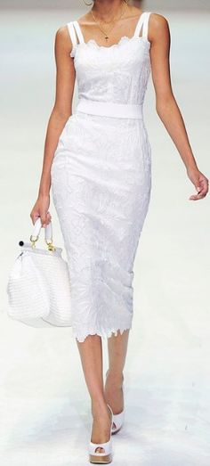 white sundress - Dolce & Gabbana
