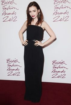 Lily Collins - British Fashion Awards 2012