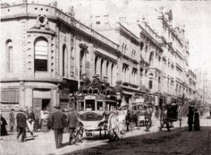 The east side of George Street, Sydney, looking south from the King Street intersection. Charles Bayliss 1850 - 1897