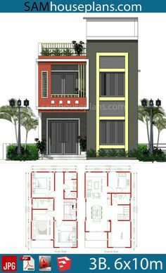 2bhk House Plan, Model House Plan, Duplex House Plans, Small House Layout, House Layout Plans, House Layouts, Flat House Design, Bungalow House Design, 20x30 House Plans