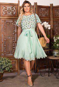 df33ffbae modelo cabelo loiro conjunto verde claro saia gode em viscose com guiipir  blusa em crepe estampa de passaros