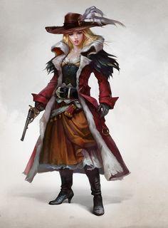 Musketeer To the Wild west, Valeria Styajkina on ArtStation at https://www.artstation.com/artwork/AEeBo