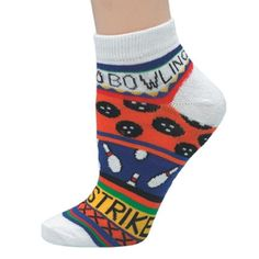 e21b381143 Ladies Bowling Theme Socks Master (One Size Fits Most, Orange). Put some  fun in your game with this women's bowling theme sock Individually packaged  75 ...