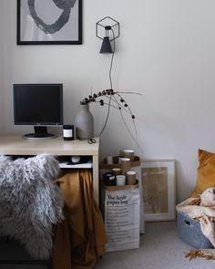 Home office @brutnikita Home Office, Office Desk, Corner Desk, Furniture, Home Decor, Home Offices, Homemade Home Decor, Desk, Corner Table