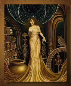 Urania  The Muse of Astronomy and Philosophy 8x10 by EmilyBalivet, $15.00