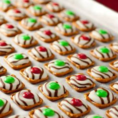 Pretzel M&M's…I make these every year!