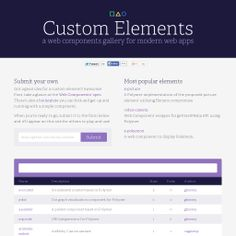 Custom Elements is a fantastic collection of web components for modern web apps.