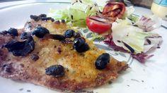 Filetes de dorada empanados al horno – Filetti di orata impanati al forno - Baked breaded fillets of sea bream italian food, italian recipes, cocina italiana, comida italiana