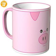 Wandkings® Tasse, Motiv: süßes Schweinchen - ROSA - Tassen mit Spruch | Lustige Kaffeebecher (*Partner-Link)
