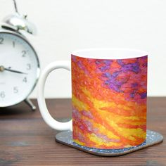 View From the Foothills by Jeff Ferst 11 oz. Purple Ceramic Coffee Mug