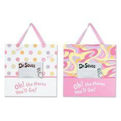 Dr. Seuss Pink OH! THE PLACES YOU'LL GO! Frames - Set of 2 - 30358