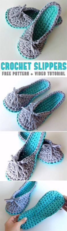 The Stitching Mommy: Crochet Slippers Pattern + Video Tutorial