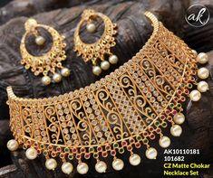 #CZ #Matte #choker #neckset #collections  V  #Jewelry Elite Fashion, Bangles, Bracelets, Jewelry Collection, Chokers, Fashion Jewelry, Jewels, Collections, Jewellery