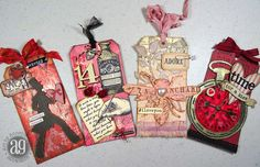 Annette's Creative Journey: Valentine-themed Technique Tags