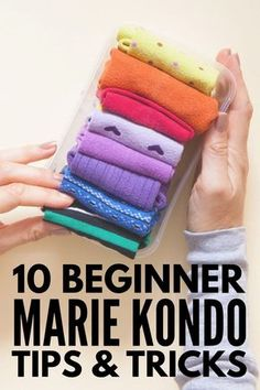 10 Marie Kondo Tips for Beginners Does this spark joy If youre looking for beginner tips to help you get started with using the KonMari Method for organizing and declutt. Declutter Your Home, Organizing Your Home, Organizing Tips, Marie Kondo Methode, Konmari Methode, Home Organization Hacks, Dresser Drawer Organization, Clothing Organization, Diy Home