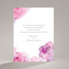 Watercolor Roses - Purple - Save the Date Card