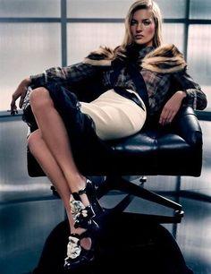 Kate Moss Fashion Editorials: Harper's Bazaar March 2010  : W Magazine, May 2004