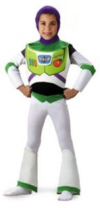 Toy Story - Buzz Lightyear Deluxe Toddler/Child Costume Description: A great hero costume from the hit movie Toy Story! The ultimate Buzz Lightyear costume for intergalactic adventures.