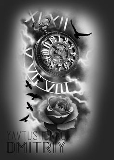 Our Website is the greatest collection of tattoos designs and artists. Find Inspirations for your next Clock Tattoo. Search for more Tattoos. Clock Tattoo Design, Compass Tattoo Design, Tattoo Designs, Rose Tattoos, Body Art Tattoos, Sleeve Tattoos, Clock Tattoos, Clock Tattoo Sleeve, Trendy Tattoos
