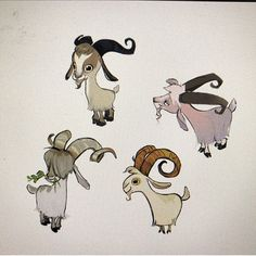 Brittany myers on animal characters 3 cartoon drawings of an Cartoon Drawing Tutorial, Cartoon Girl Drawing, Goat Cartoon, Goat Art, Cute Goats, Cartoon Drawings Of Animals, Animal Doodles, Barnyard Animals, Creature Design