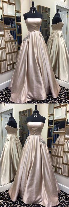 Beautiful Prom Dresses A-line Light Sky Blue Long Prom Dress Chic Evening Dress Classy Prom Dresses, Gorgeous Prom Dresses, Junior Prom Dresses, Strapless Prom Dresses, Simple Prom Dress, Prom Dresses For Teens, Prom Dresses 2018, Elegant Prom Dresses, Classy Dress