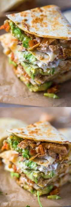 Chicken Avocado Quesadillas